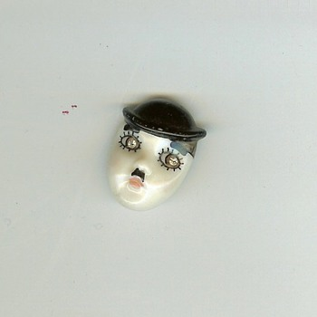 Vintage Charlie Chaplin Lapel Pin Unknown Signature