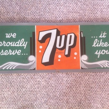 6 Bubble  7 UP  sign - Advertising