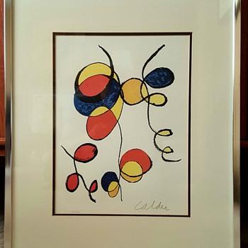 """Spirals"" Lithograph by Alexander Calder - Mid-Century Modern"