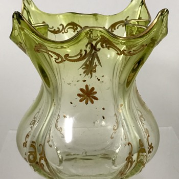 Harrach Jugenstil ribbed vase, PN 1647/3, ca. 1900 - Art Glass