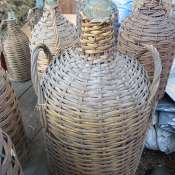 V. Sattui Wine Co. Carboy's Demijohn bottles from San Francisco circa 1875 - 1900