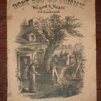 "1867  ""Don't You Go, Tommy""  By C.T. Lockwood  ~ Sheet Music - Music"