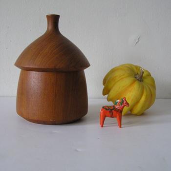 Dansk Teak Acorn Box Designed By Jens Quistgaard