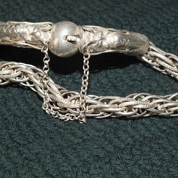 Antique Silver Chinese Dragon Bracelet