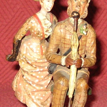 Vintage Austrian Cold Painted Bronze Couple (Signed)