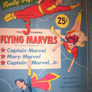 Flying marvels comic cut outs  - Comic Books