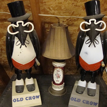 "Variety of ""Old Crow"" Whiskey advertising figures.........."