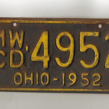 License plate I from OHIO, turns out to be for boat.