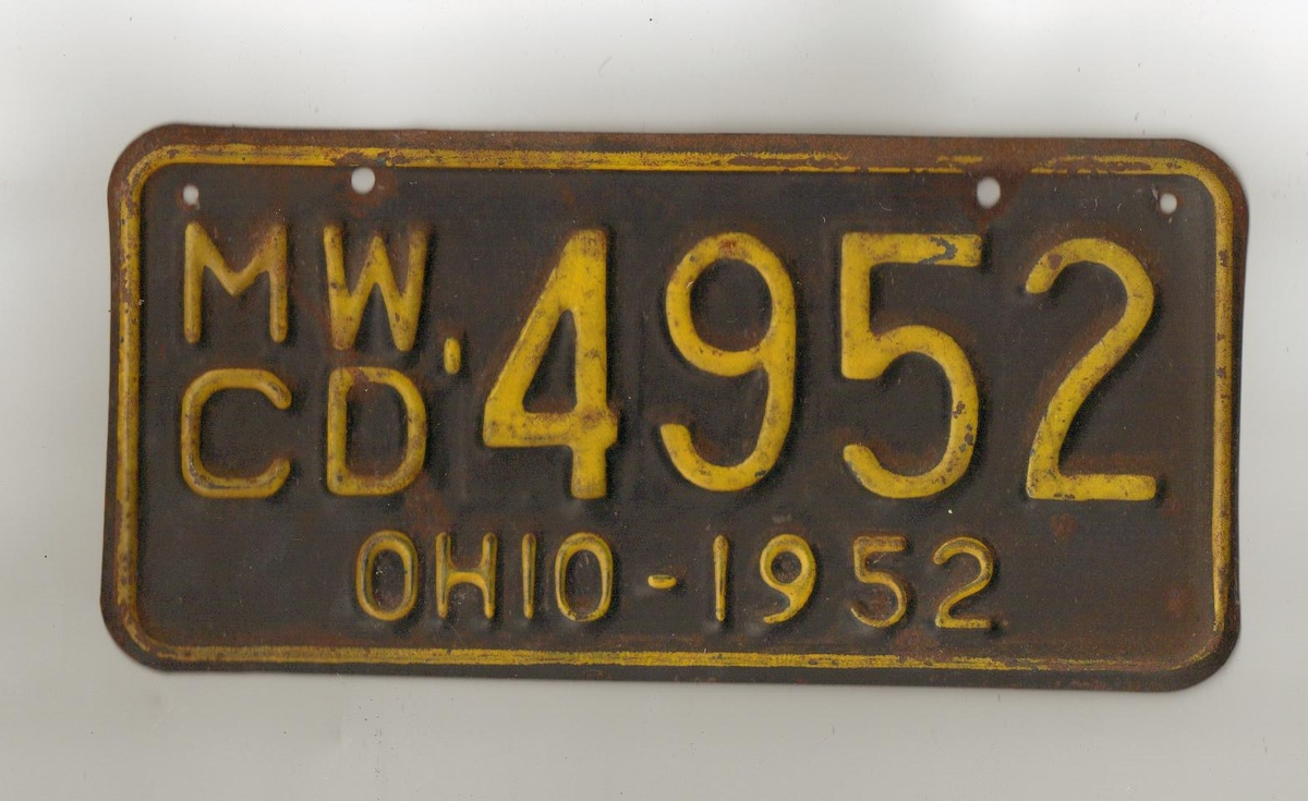 License plate i from ohio turns out to be for boat for Ohio out of state fishing license
