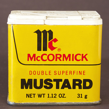 1977 McCormick Mustard Tin - Advertising
