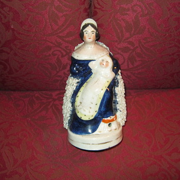 Staffordshire Queen Victoria and baby 