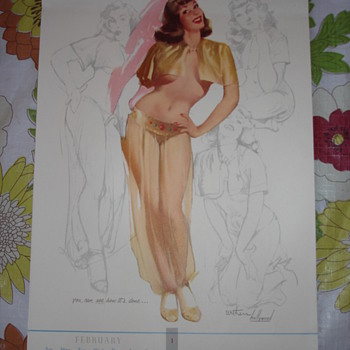"""1957 PINUP CALENDAR"" BY TED WITHERS(HOLLYWOOD)"