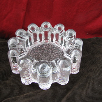 Heavy Clear Glass Ashtray
