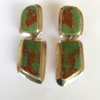 Royston Turquoise Earrings - Native American