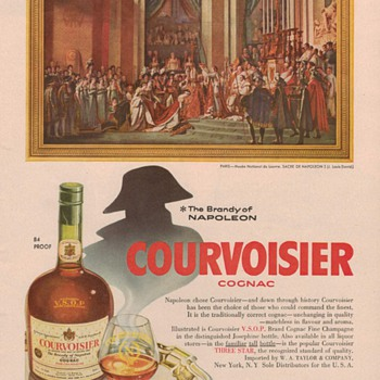 1954 Courvoisier Cognac Advertisement 2 - Advertising