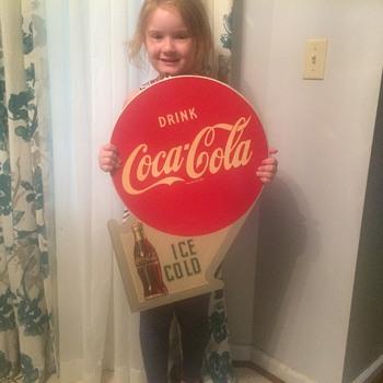 1953 Coca Cola flange sign NOS - Coca-Cola