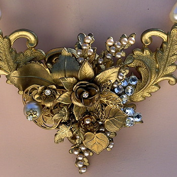 One of my early collages. - Costume Jewelry
