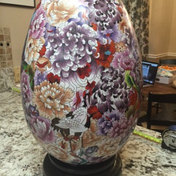 Large Cloisonne Egg **Edit to add picture of bottom** - Asian