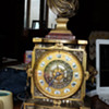 Antique A. Carrier Bronze and Tiffany Mantel Clock