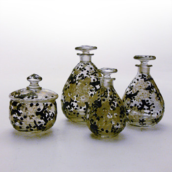 Part of a Delvaux vanity set. ca. 1923-1925 - Art Glass