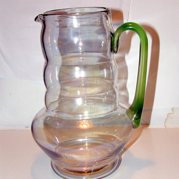 Molded? pitcher - Glassware