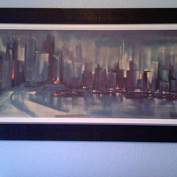 Mid Century City Scape Print