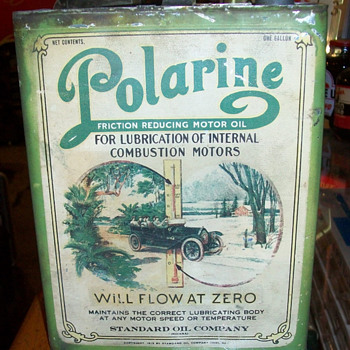 1913 Polarine 1 gallon can - Petroliana