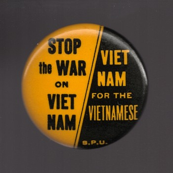 STOP The WAR On VIET NAM protest pinback - Medals Pins and Badges