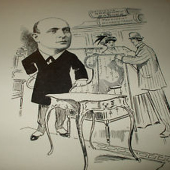 Early Political Cartoon Book-New York-Leather-