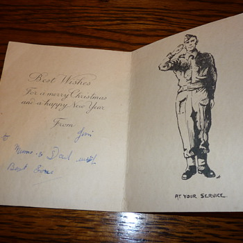WWII British Expeditionary Force Christmas Card - Military and Wartime