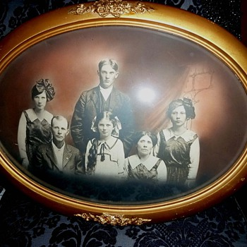 Oval Framed Family Portrait - Photographs