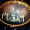 Oval Framed Family Portrait