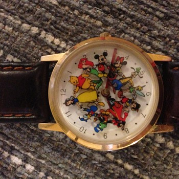 multi disney charactor watch
