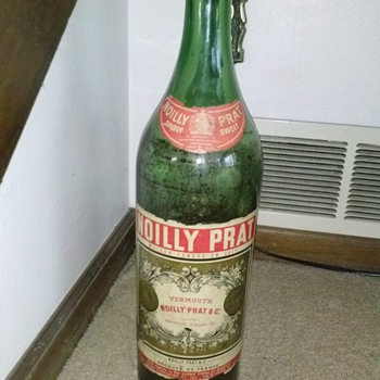 Noilly Prat vermouth display bottle 2 ft tall