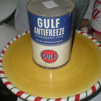 Antifreeze Gulf Can - Petroliana