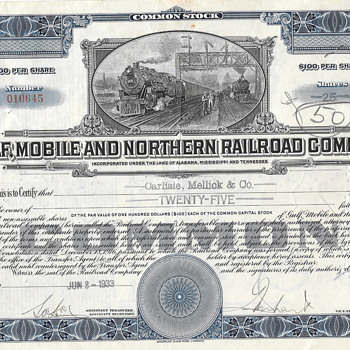 Rail-road Stock Certificates