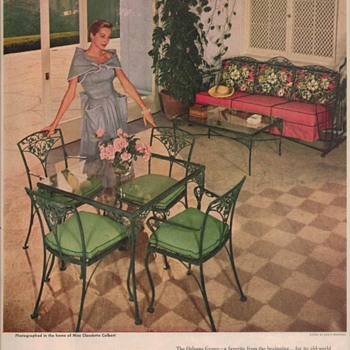1950 Woodard Furniture Advertisements - Advertising