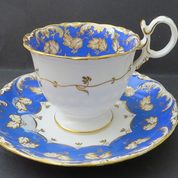 Antique Coalport Cup and Saucer - China and Dinnerware
