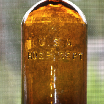 ***Civil War U.S.A. Hosp. Dept. Bottle***