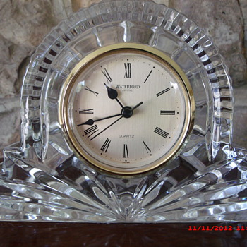 A Very Nice Waterford Lead Crystal Mantle Clock found in $1 Box Lot  - Clocks