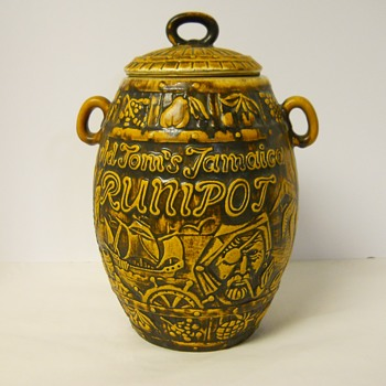 "Post 2 of 2, Western Germany Pottery, Bay""Rum Barrel"" Circa 1950-60 - Art Pottery"