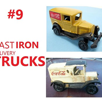 #9 Cast Iron coca-cola delivery trucks - Coca-Cola
