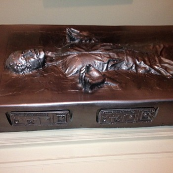 "Star Wars Han Solo in Carbonite Original Movie Replica 6'8"" high"