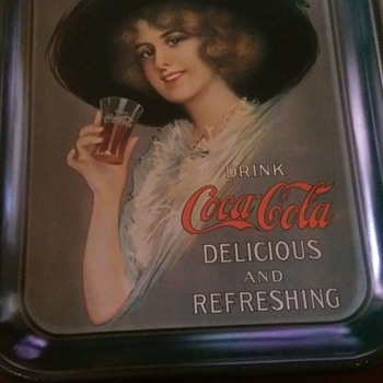Coca Cola Tray 1913 Reproduction
