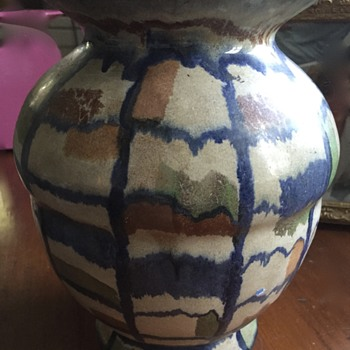 Pottery Vase that looks like Sand Art