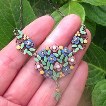 Bernard Instone Silver Enamel Necklace - Fine Jewelry