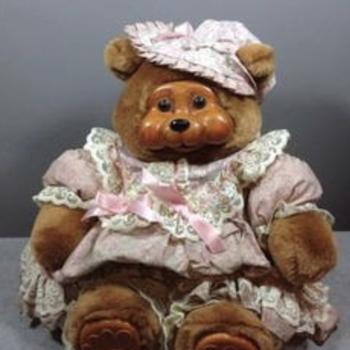 Teddy Bear with wooden face & feet