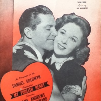 &quot;My Foolish Heart&quot; Sheet Music - Paper