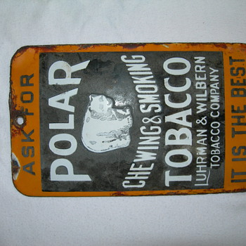 Polar Tobacco Door Push Porcelian - Signs