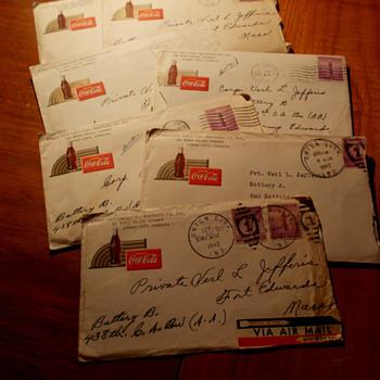 1940s Coca-Cola envelopes and letters...from three generations